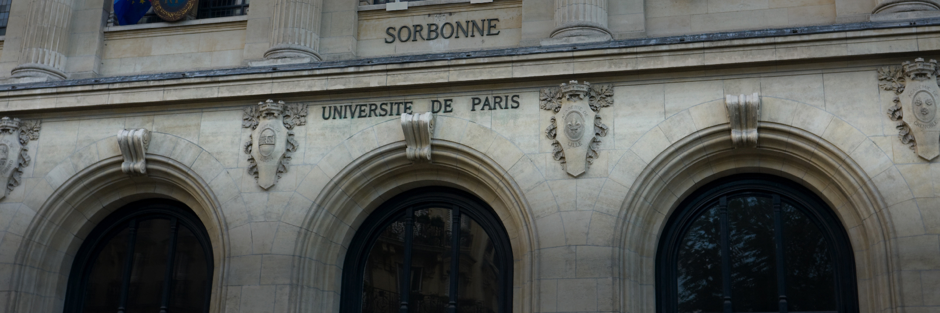 Front facade of the University of Paris
